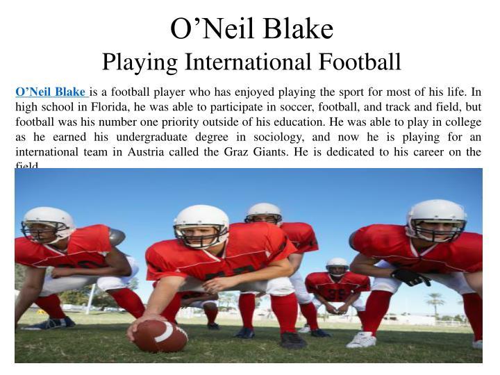 O'Neil Blake