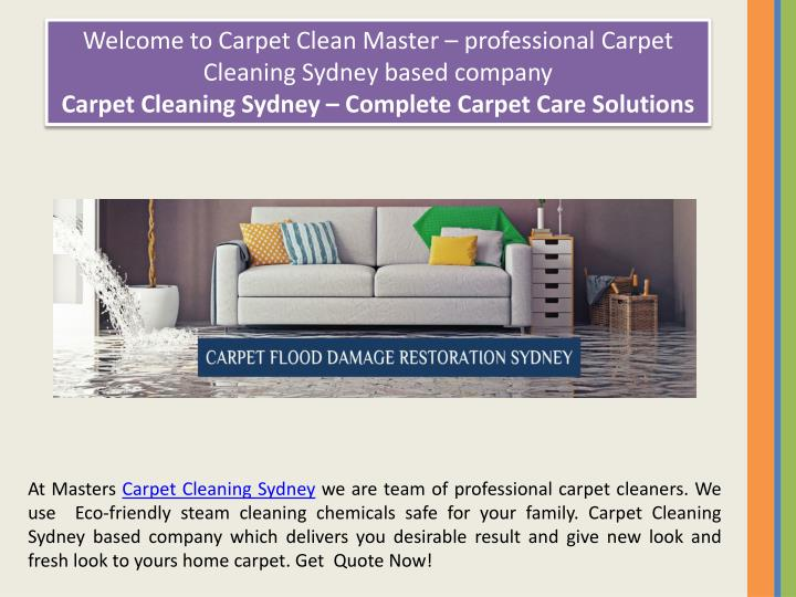 Welcome to Carpet Clean Master – professional Carpet Cleaning Sydney based company