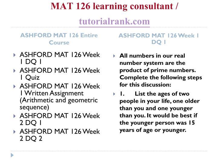 Mat 126 learning consultant tutorialrank com1