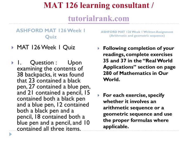 Mat 126 learning consultant tutorialrank com2