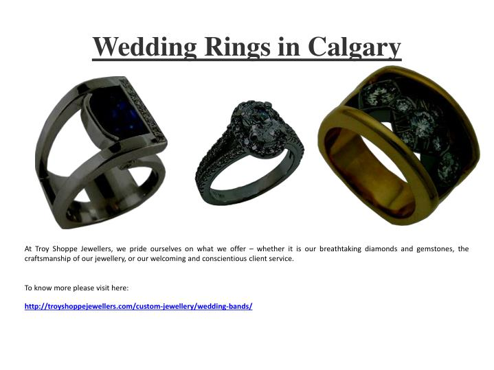 Wedding rings in calgary