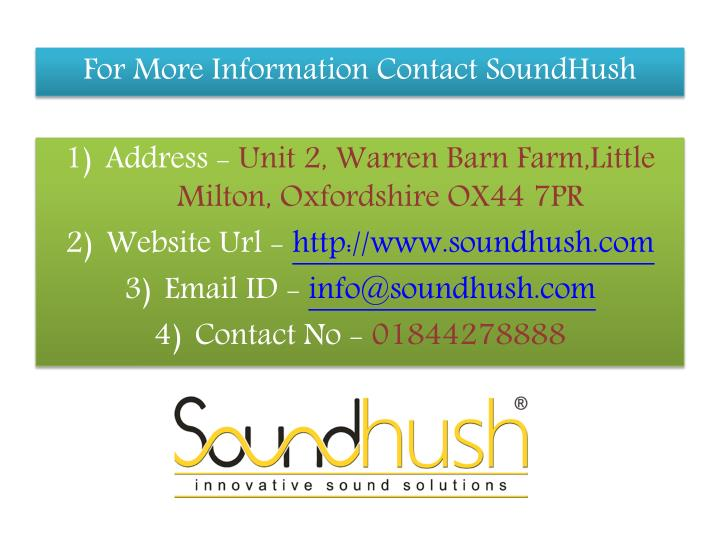For More Information Contact