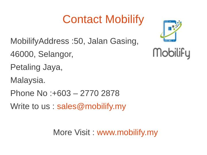 Contact Mobilify