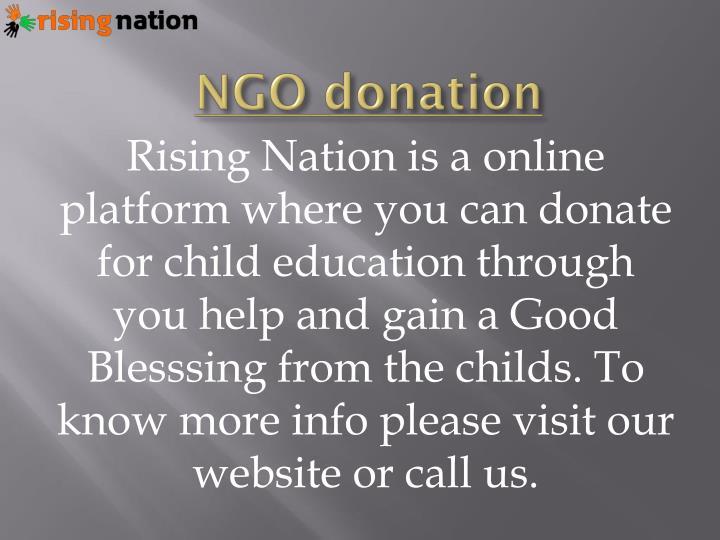 Ngo donation
