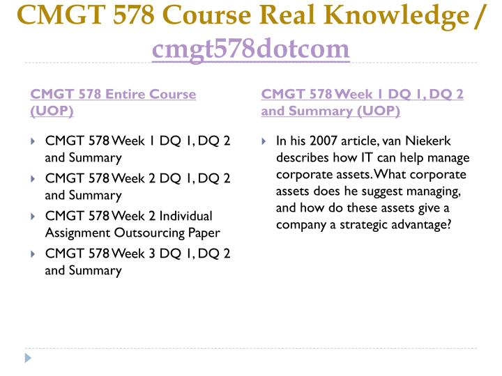 Cmgt 578 course real knowledge cmgt578dotcom1