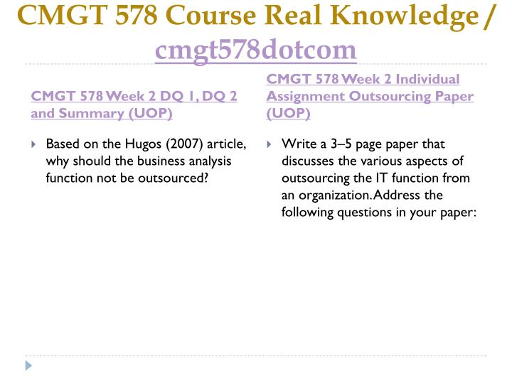 Cmgt 578 course real knowledge cmgt578dotcom2