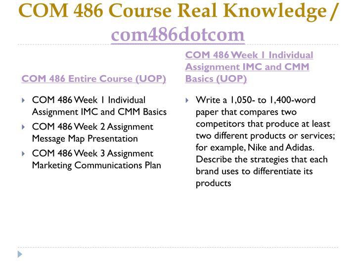 Com 486 course real knowledge com486dotcom1