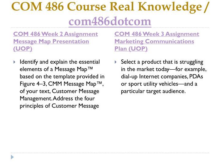 Com 486 course real knowledge com486dotcom2