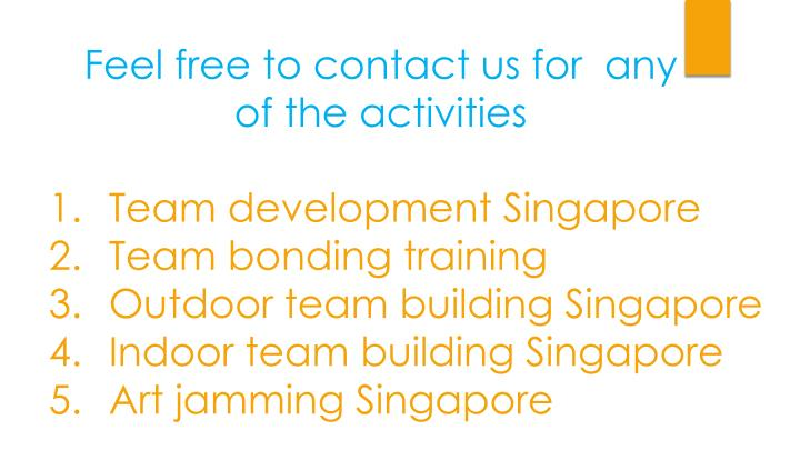 Feel free to contact us for  any of the activities