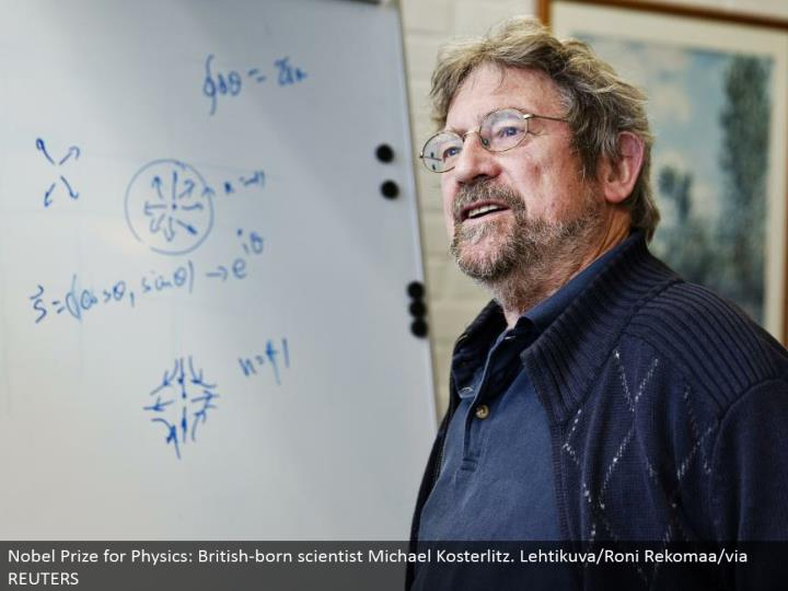 Nobel Prize for Physics: British-conceived researcher Michael Kosterlitz. Lehtikuva/Roni Rekomaa/by means of REUTERS