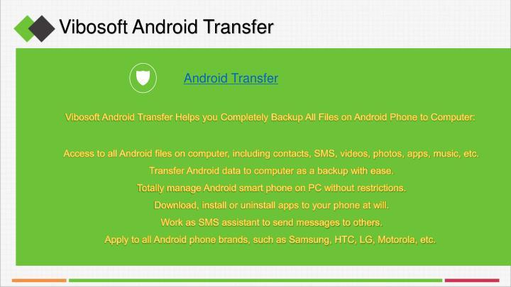 Vibosoft Android Transfer