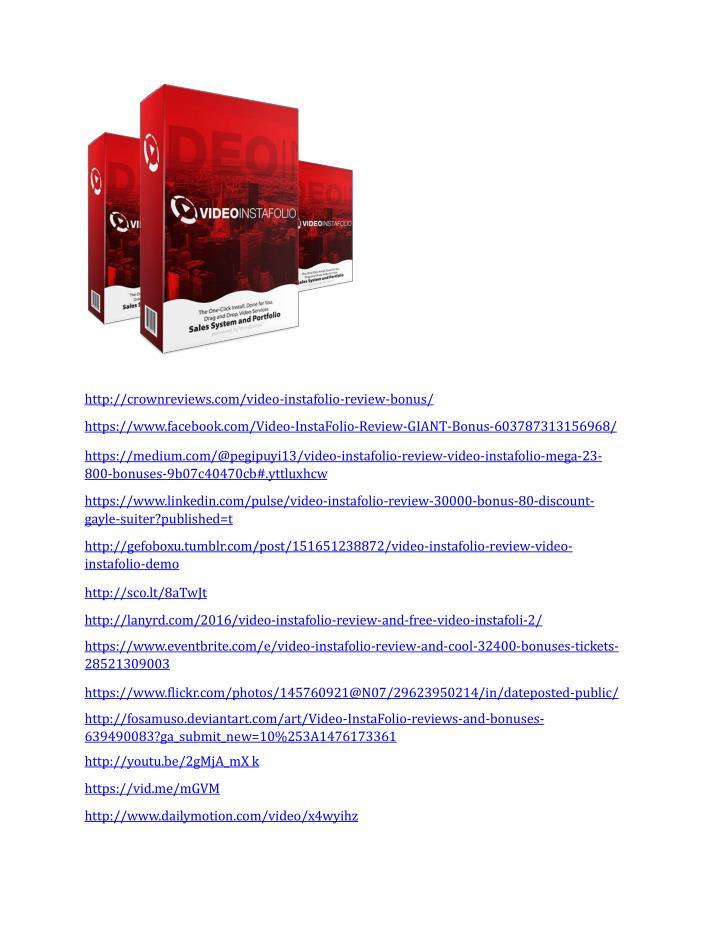 Http://crownreviews.com/video-instafolio-review-bonus/