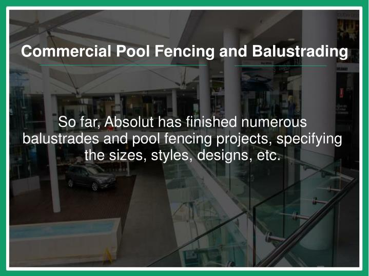 Commercial Pool Fencing and Balustrading