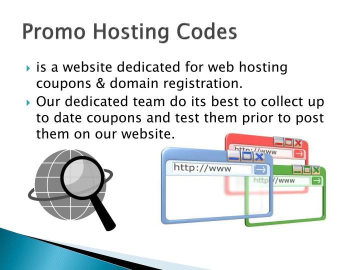 Promo hosting codes