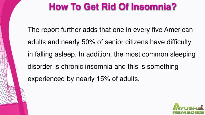 How To Get Rid Of Insomnia?
