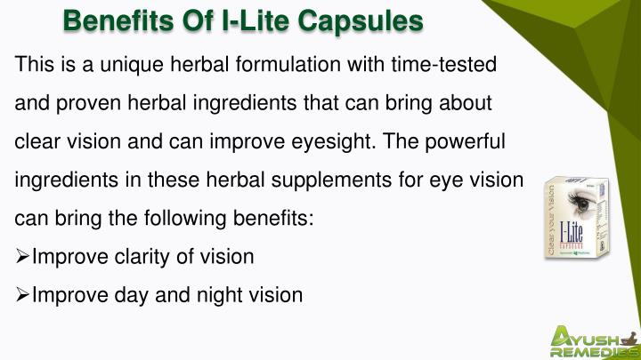 Benefits Of I-Lite