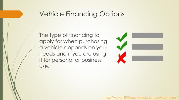 Vehicle financing options1