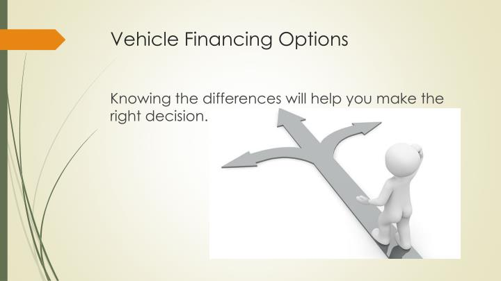 Vehicle financing options2