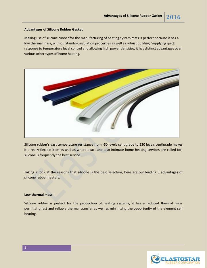 Advantages of Silicone Rubber Gasket