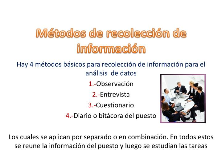 Métodos de recolección de información
