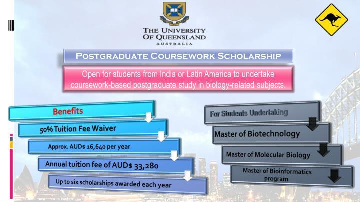 Postgraduate Coursework Scholarship