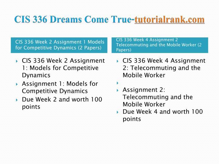 Cis 336 dreams come true tutorialrank com2
