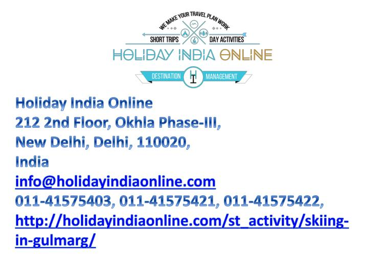 Holiday India Online