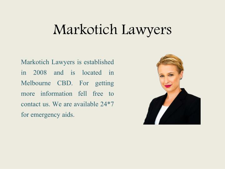 Markotich Lawyers