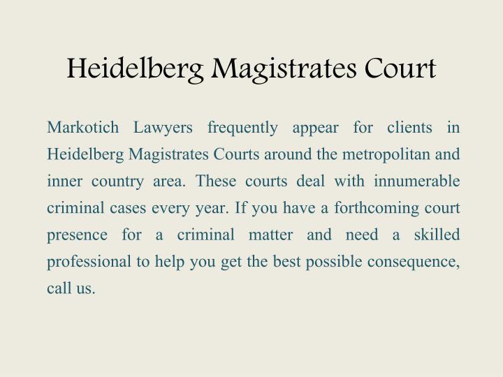 Heidelberg Magistrates Court