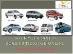 book your taxi in udaipur through online