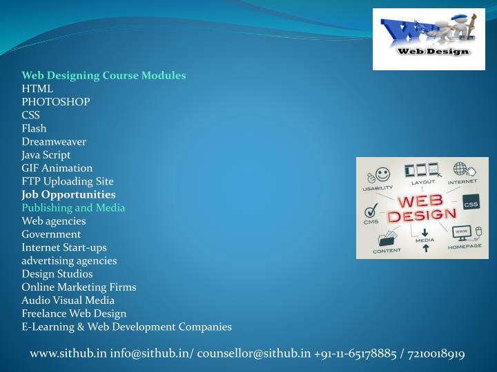 Web Designing Course Modules