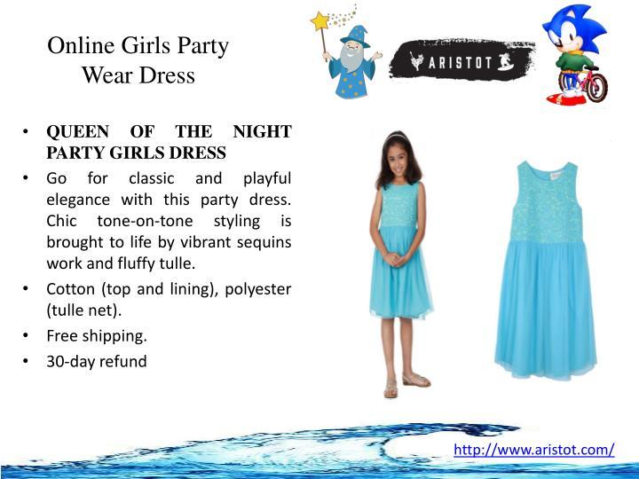Online Girls Party Wear Dress