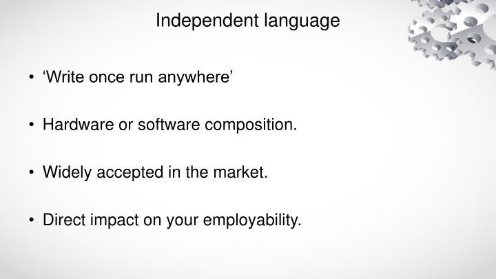 Independent language
