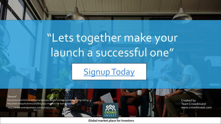 """""""Lets together make your launch a successful one"""""""