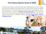 first home owners grant in nsw