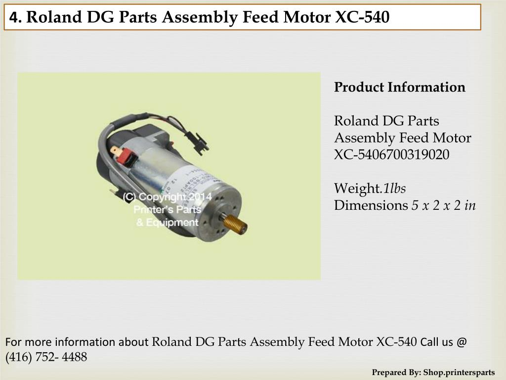 PPT - Roland DG Parts - Shop PrintersParts com PowerPoint