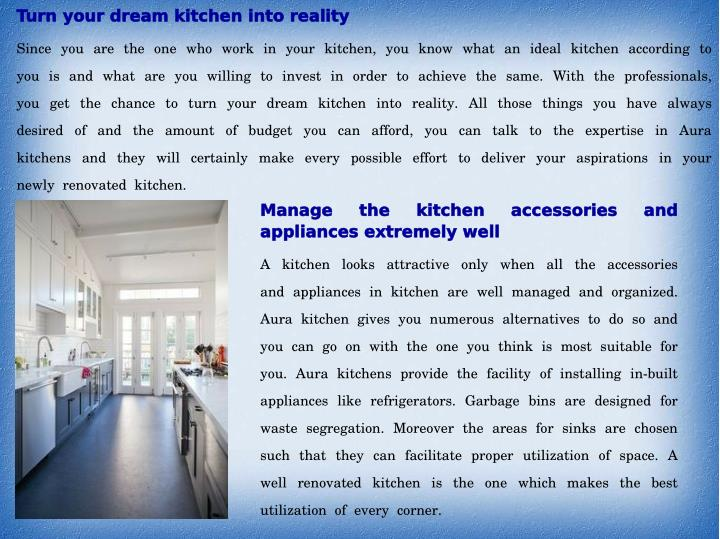 Turn your dream kitchen into reality