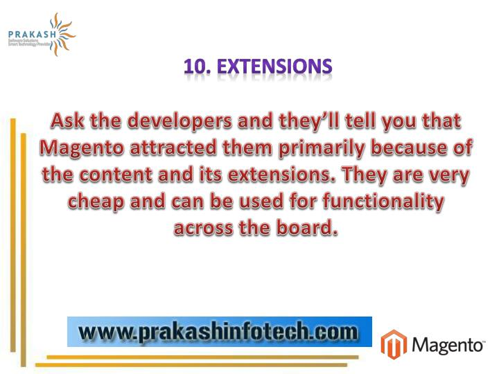 10. Extensions