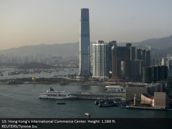 10: Hong Kong's International Commerce Center. Stature: 1,588 ft.  REUTERS/Tyrone Siu