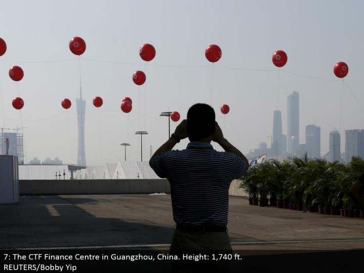 7: The CTF Finance Center in Guangzhou, China. Stature: 1,740 ft.  REUTERS/Bobby Yip