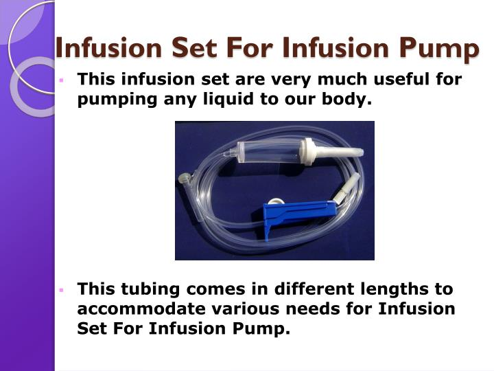Infusion set for infusion pump