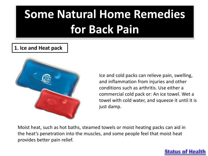 Some Natural Home Remedies for Back Pain