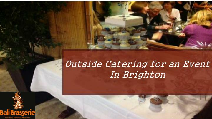 Outside Catering for an Event