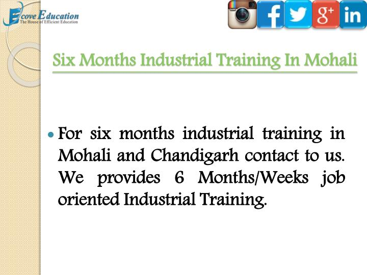 Six Months Industrial Training In Mohali