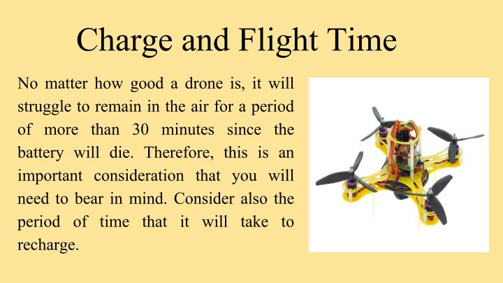Charge and Flight Time