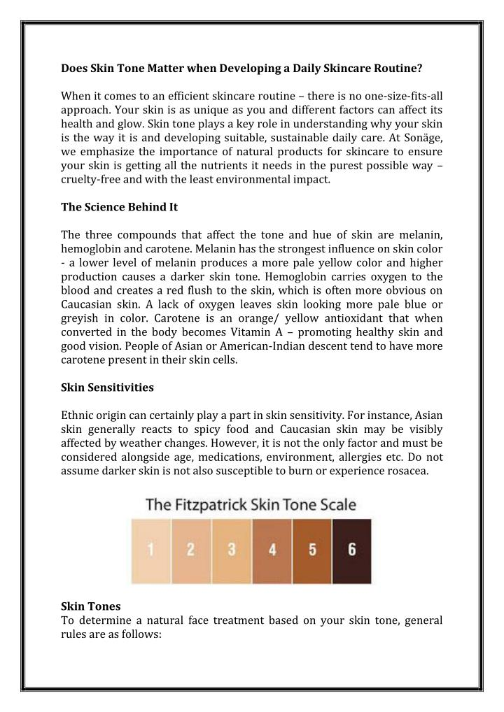 Does Skin Tone Matter when Developing a Daily Skincare Routine?