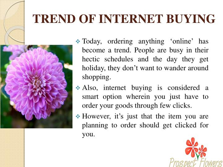 Trend of internet buying