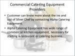 commercial catering equipment providers