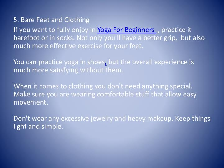 5. Bare Feet and Clothing