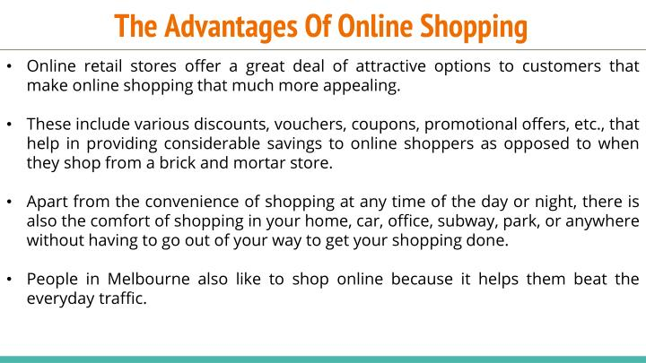The advantages of online shopping